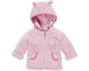 Playshoes fleece jacket with hood girls pink