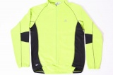 ADIDAS VEST LANGE MOUW LIME ZWART MAAT XL