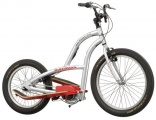 BATAVUS BIKESTEPPER CITY 24 ZILVER ROOD