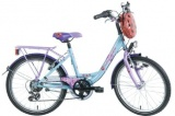 BIKEFUN GIRLS FUN 20 MEISJES V6 BLAUW PAARS LILA