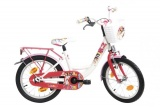 BIKEFUN K3 16 MEISJES RN WIT ROZE
