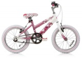 CONCEPT ANGEL MTB 16 MEISJES WIT ROZE VRIJWIEL