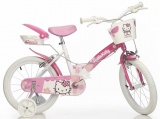 DINO 156N HELLO KITTY 16 MEISJES WIT ROZE