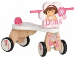 DORA HOUTEN LOOPFIETS 4 WIELEN SUPER PRETTY ROSE
