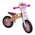 DORA HOUTEN LOOPFIETS MET BLOEM ROZE