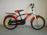 FREEWHEELS RUN BIKE 16 JONGENS RN ROOD ZWART WIT