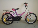 FREEWHEELS RUN BIKE 16 MEISJES RN PAARS ROSE WIT