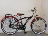 FREEWHEELS RUN BIKE 24 JONGENS RN ZWART ROOD WIT