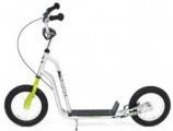 KICKID FUN LINE STEP 12 GREEN SILVER SCOOTER