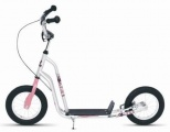 KICKID FUN LINE STEP 12 PINK SILVER SCOOTER