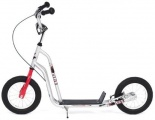 KICKID FUN LINE STEP 12 RED SILVER SCOOTER