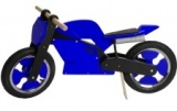 KIDDIMOTO LOOPFIETS SUPERBIKE BLUE BLACK