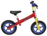 KIDS CLUB KINDER LOOPFIETS ROOD BLAUW GEEL
