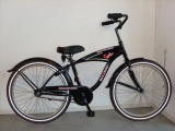 MAX 2 BIKE 24 JONGENS RN ZWART CRUISER