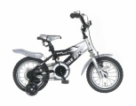 POPAL BIKE 2 FLY 12 JONGENS RN ZWART ZILVER