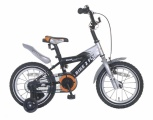 POPAL BIKE 2 FLY 14 JONGENS ZILVER ZWART