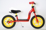 TEDDY LOOPFIETS ROOD GEEL MET REM