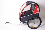 TRAXX KINDERAANHANGWAGEN 2 KINDEREN DONKERROOD BLAUW
