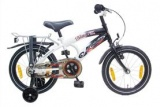 VOLARE THOMBIKE 16 JONGENS RN ZWART WIT