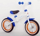 YIPEEH LOOPFIETS MET RECHT FRAME WIT BLAUW