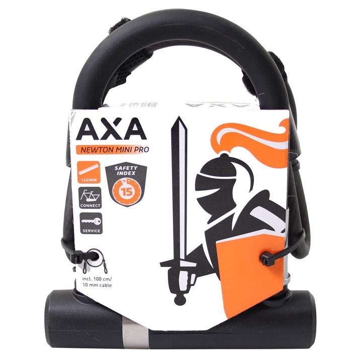 AXA U-Lock Mini Newton Pro UL-Kabel 140 x 13 mm Art-2 schwarz ...