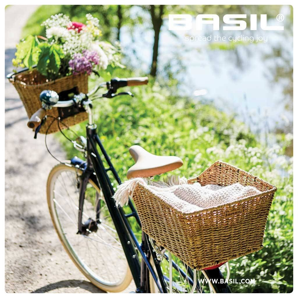 Basil bicycle basket Cento rattan look seagrass brown 45 liters ... 0a992c180f84f