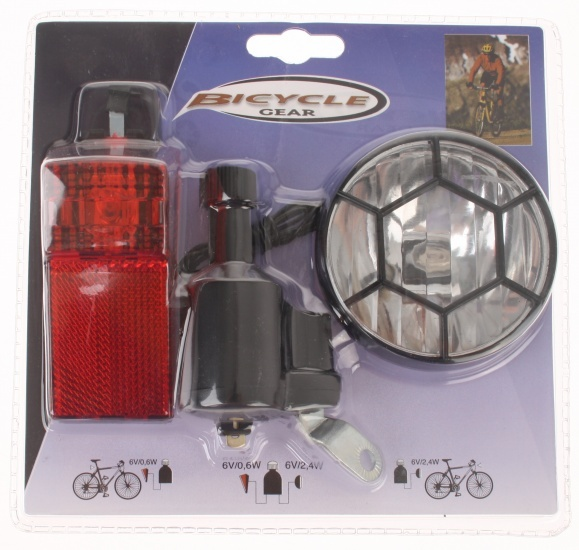 bicycle gear fietsverlichting set met dynamo