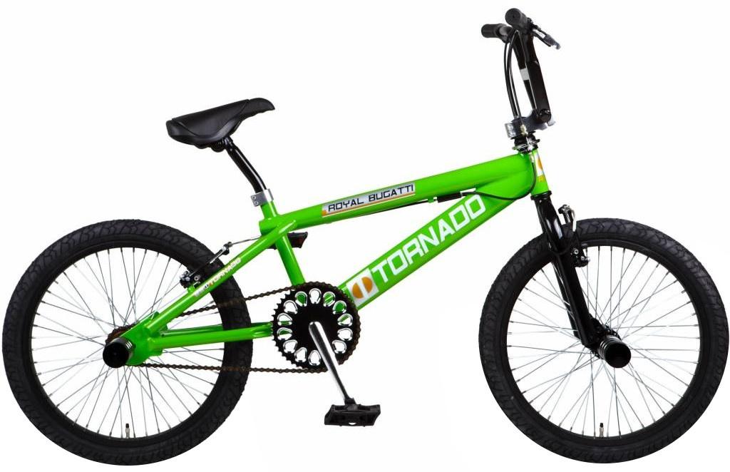 Bike Fun Tornado 20 Inch Junior Rim Brakes Green - Internet-Bikes