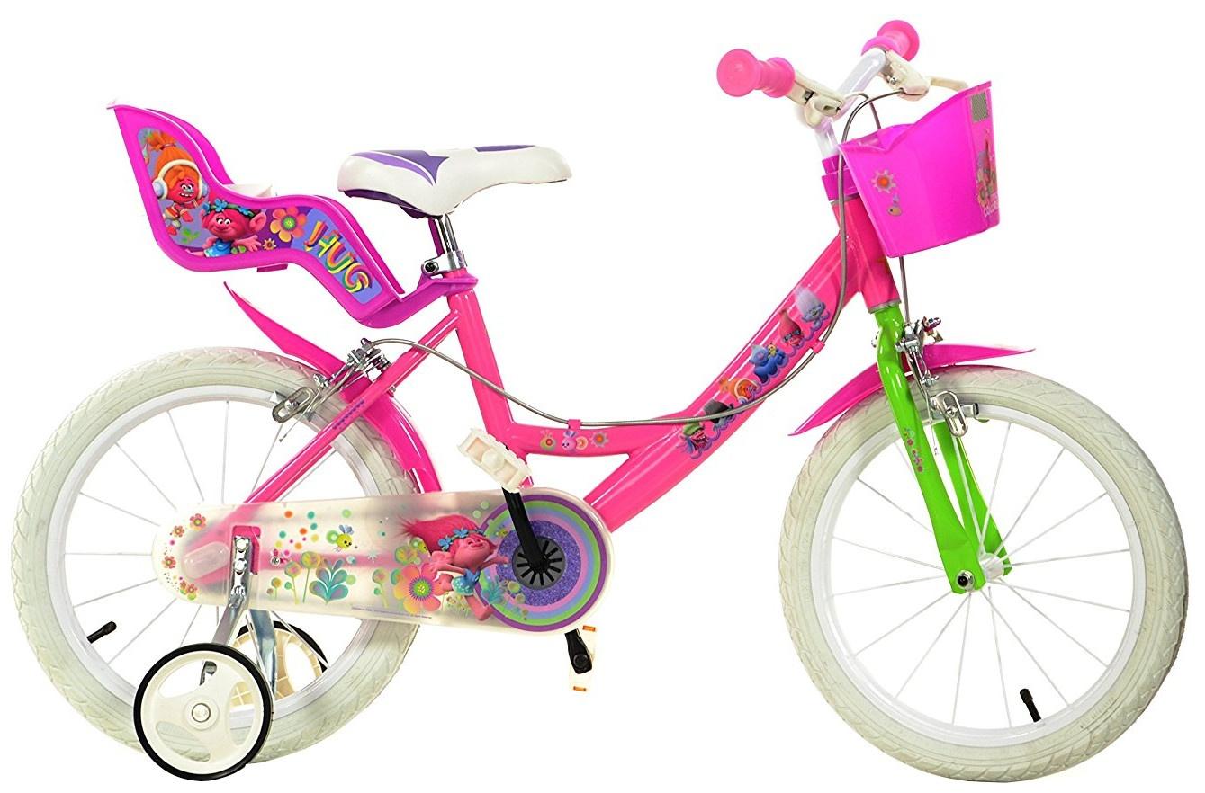 dino trolls 16 zoll m dchen felgenbremse rosa internet bikes. Black Bedroom Furniture Sets. Home Design Ideas