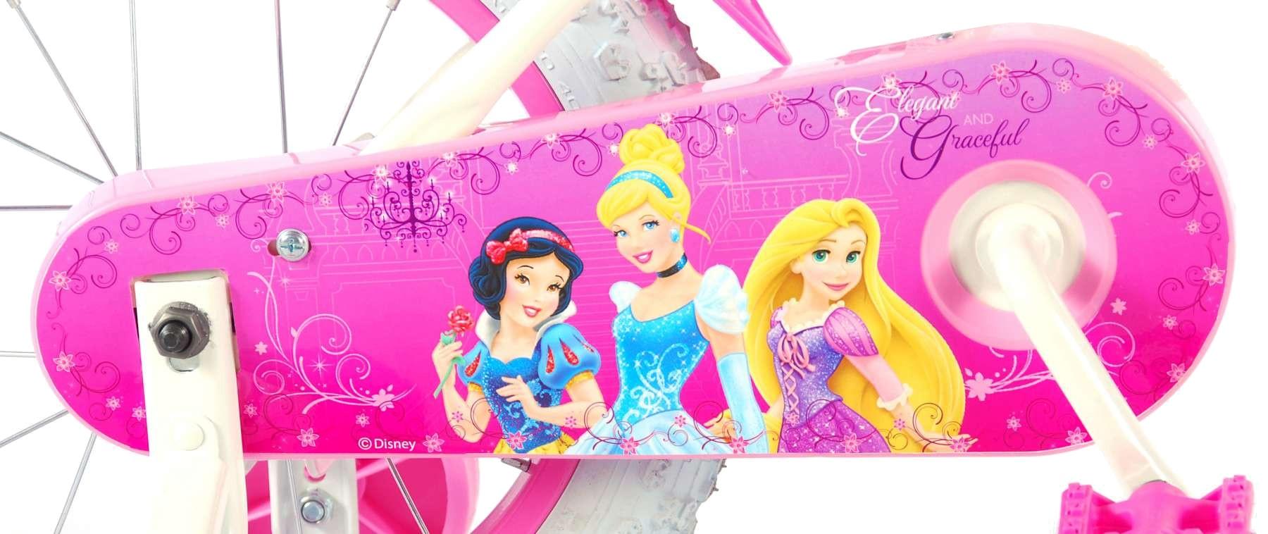 Disney Princess-S1 14 Zoll 23,5 cm Mädchen Rücktrittbremse Weiß/Rosa ...