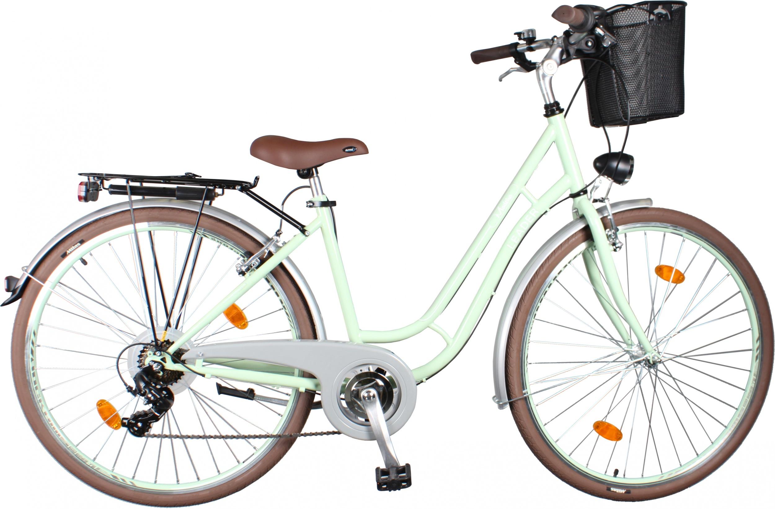 Leader Madeira 28 Inch Woman 7SP Rim Brakes Green - Internet-Bikes