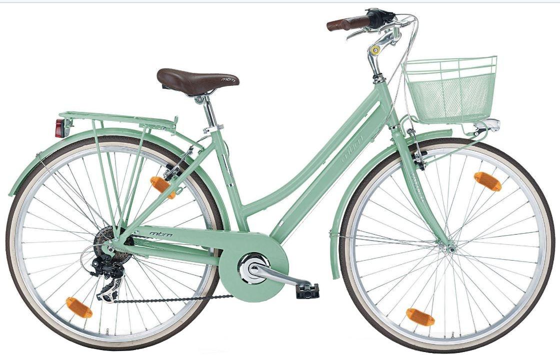 MBM Boulevard 28 Inch Woman 6SP Rim Brakes Green - Internet-Bikes