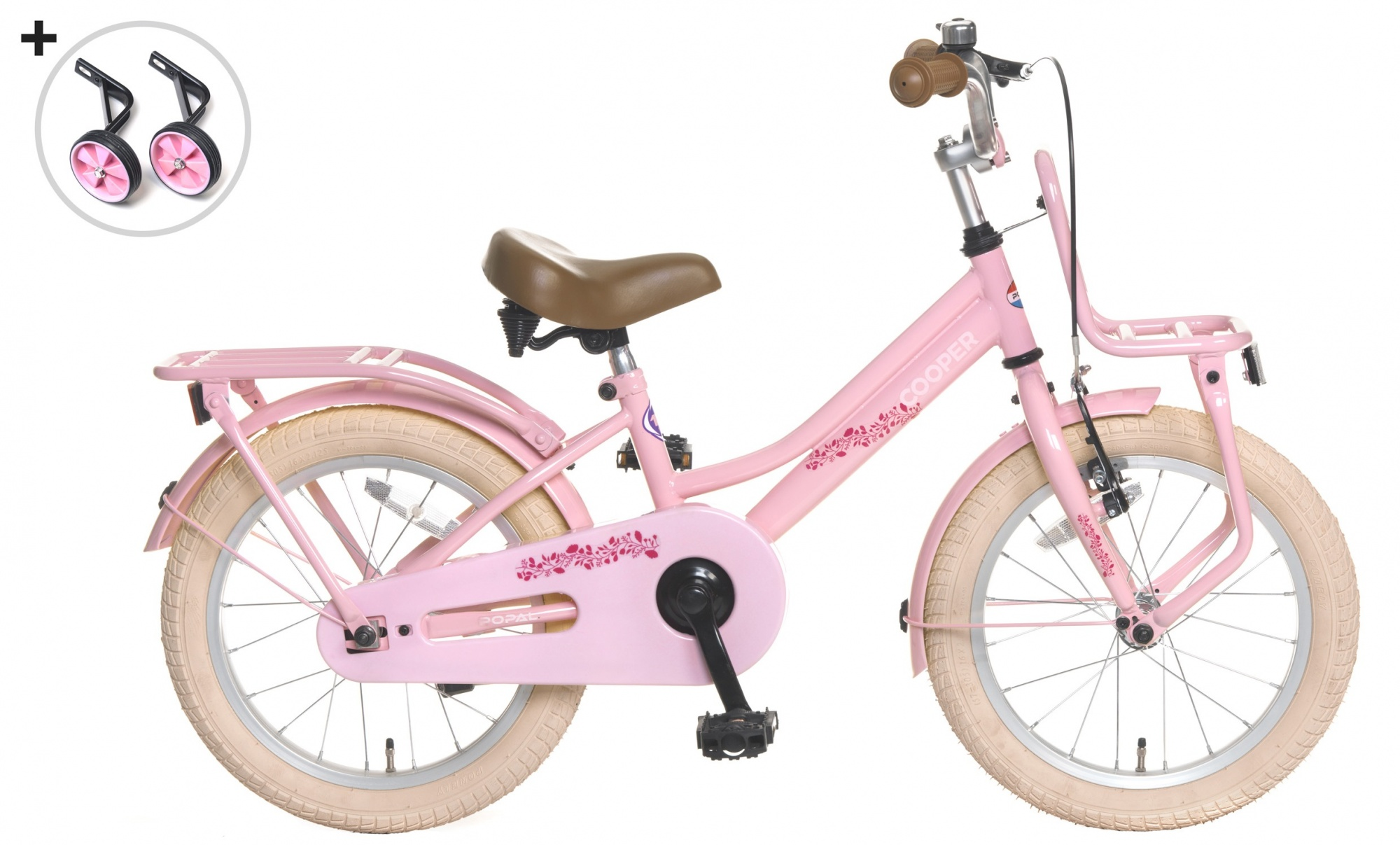 popal cooper 16 zoll m dchen r cktrittbremse rosa internet bikes. Black Bedroom Furniture Sets. Home Design Ideas