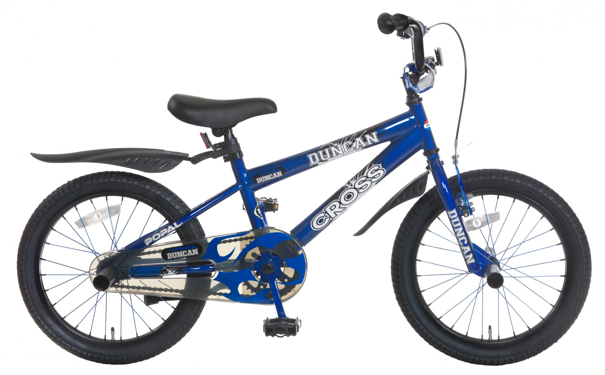 Popal Duncan 18 Inch Boys Coaster Brake Blue - Internet-Bikes