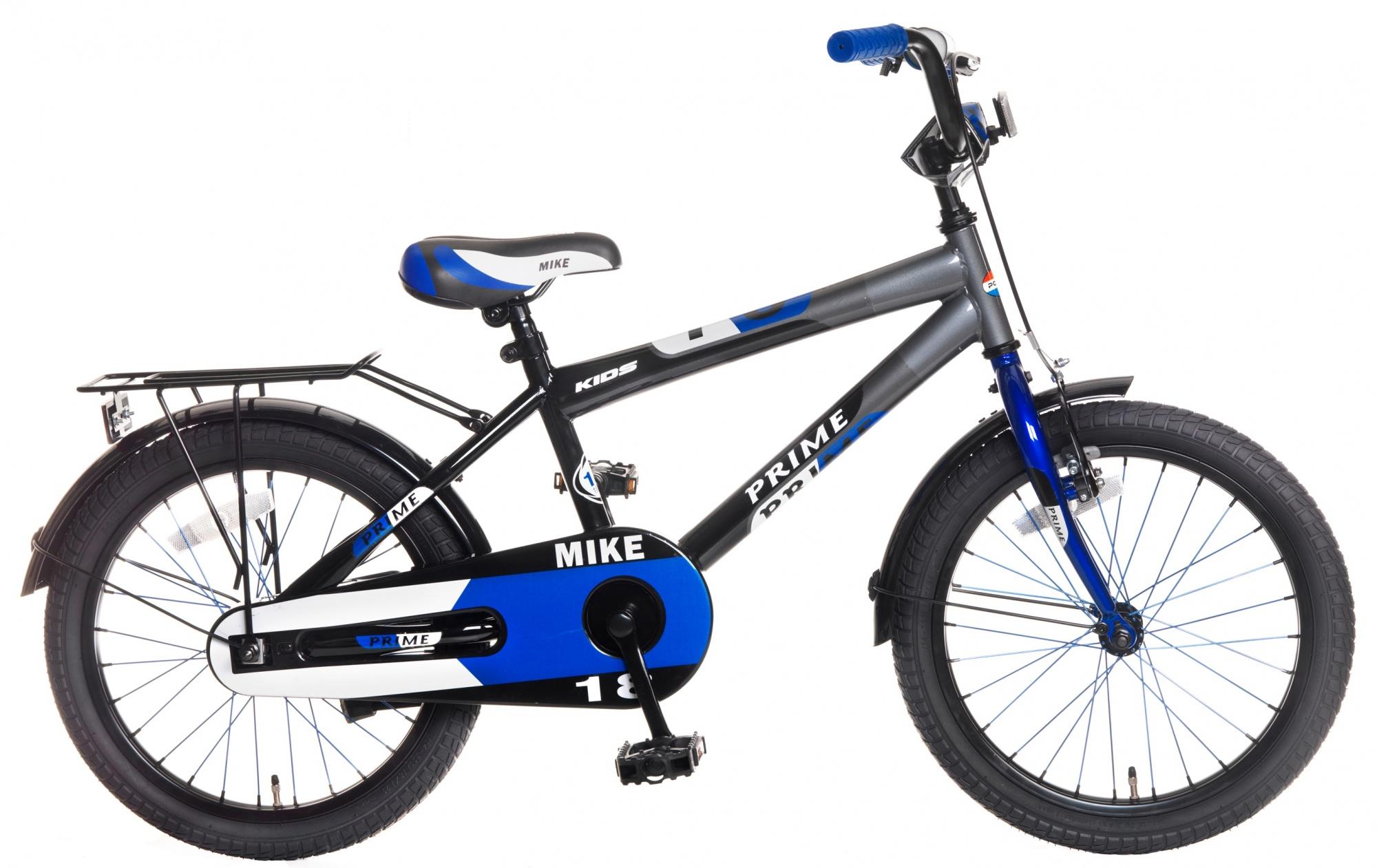 Popal Mike 18 Zoll Jungen Rücktrittbremse Blau/Grau - Internet-Bikes