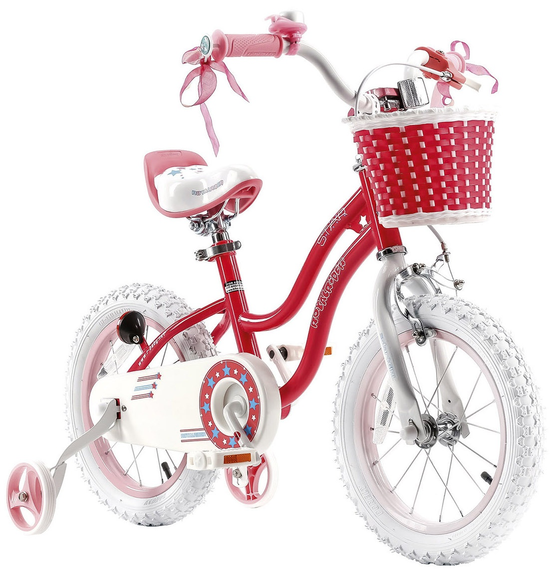 ad077344863 RoyalBaby Stargirl 16 Inch Girls Drum brake Red/Pink - Internet-Bikes