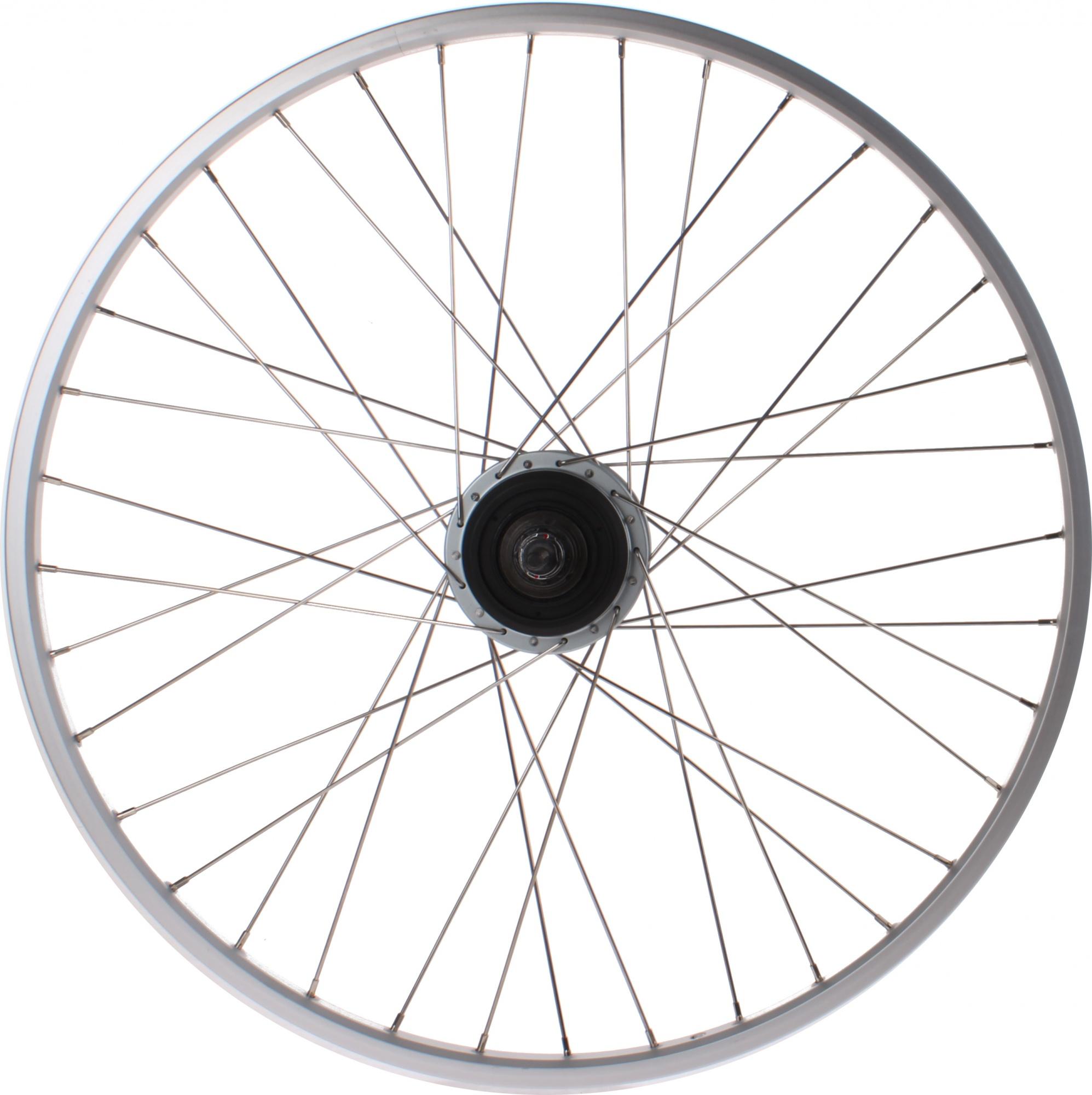 Stem At Ryde Academy Rydestem: Ryde Rear Wheel 28 Inch Rollerbrake 36G Aluminum Silver