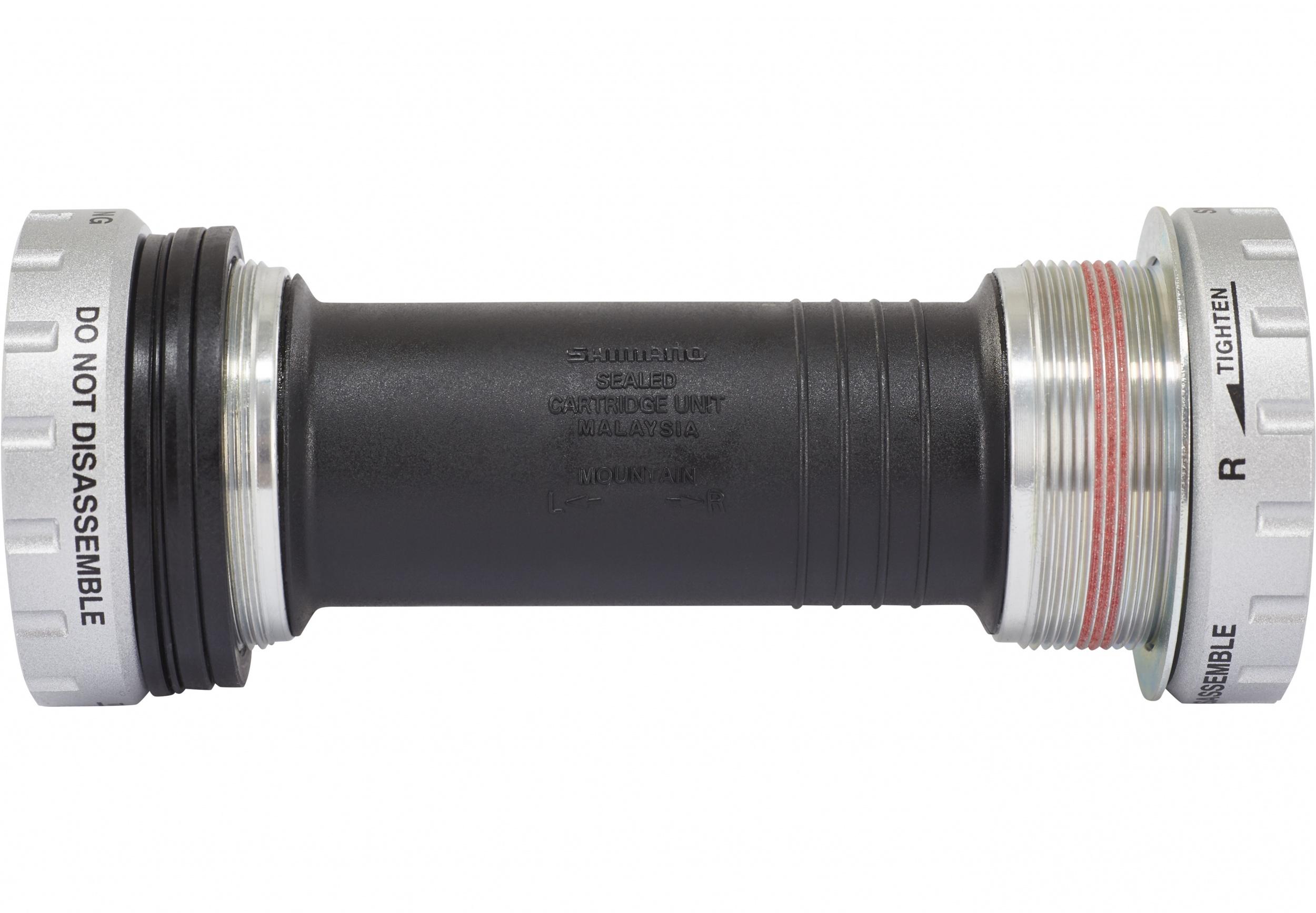 edb17b8e7e2 Shimano bottom bracket Deore BB52 BSA 83 x 44 mm black/silver. Enlarge