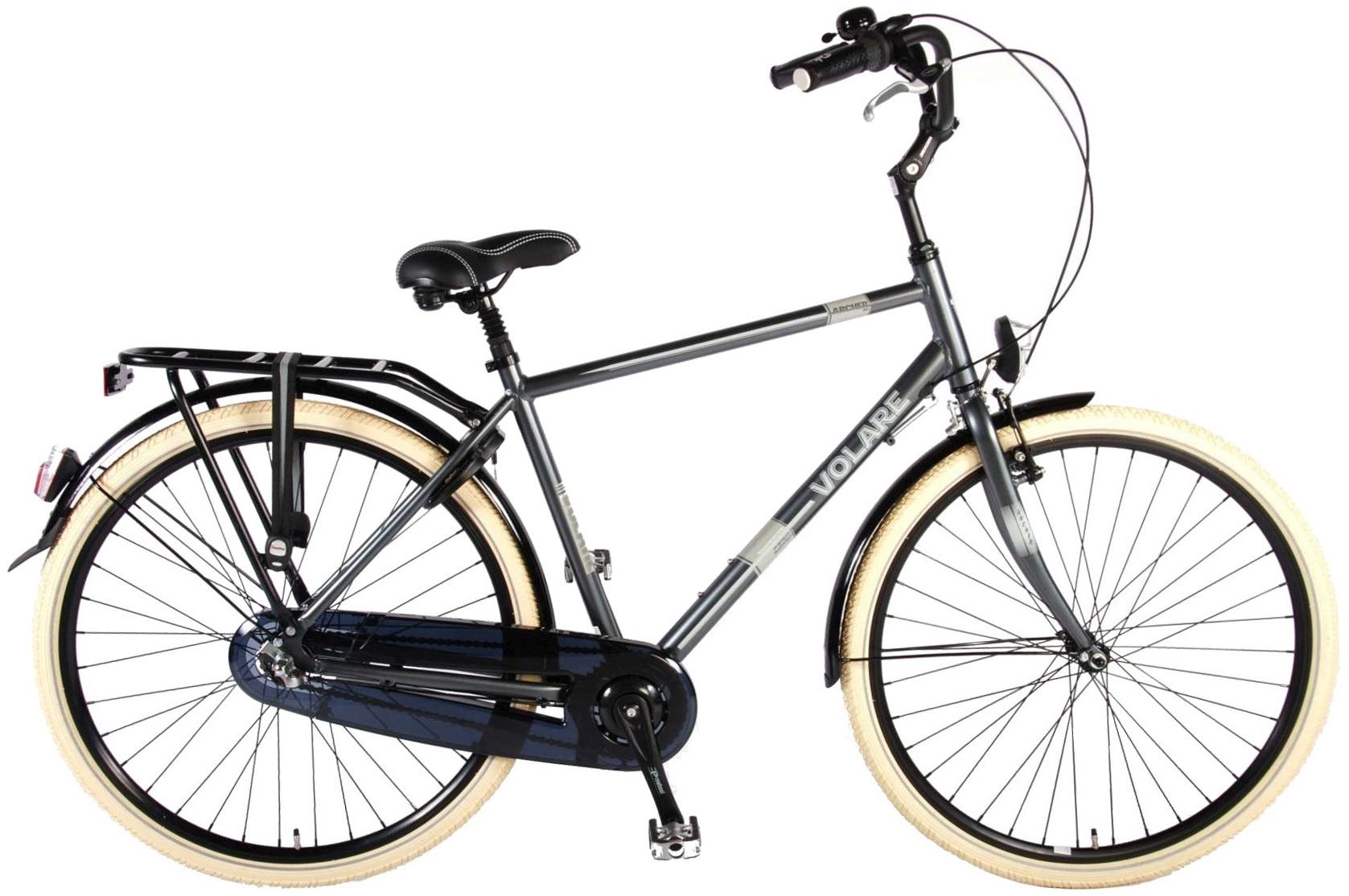 Volare Archer 28 Inch Men 3SP Coaster Brake Grey - Internet-Bikes