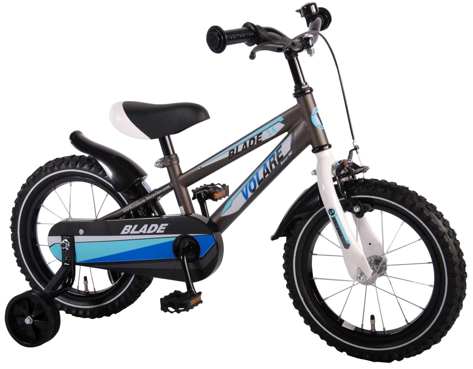 Volare Blade 14 Inch 23,5 cm Boys Coaster Brake Silver - Internet-Bikes