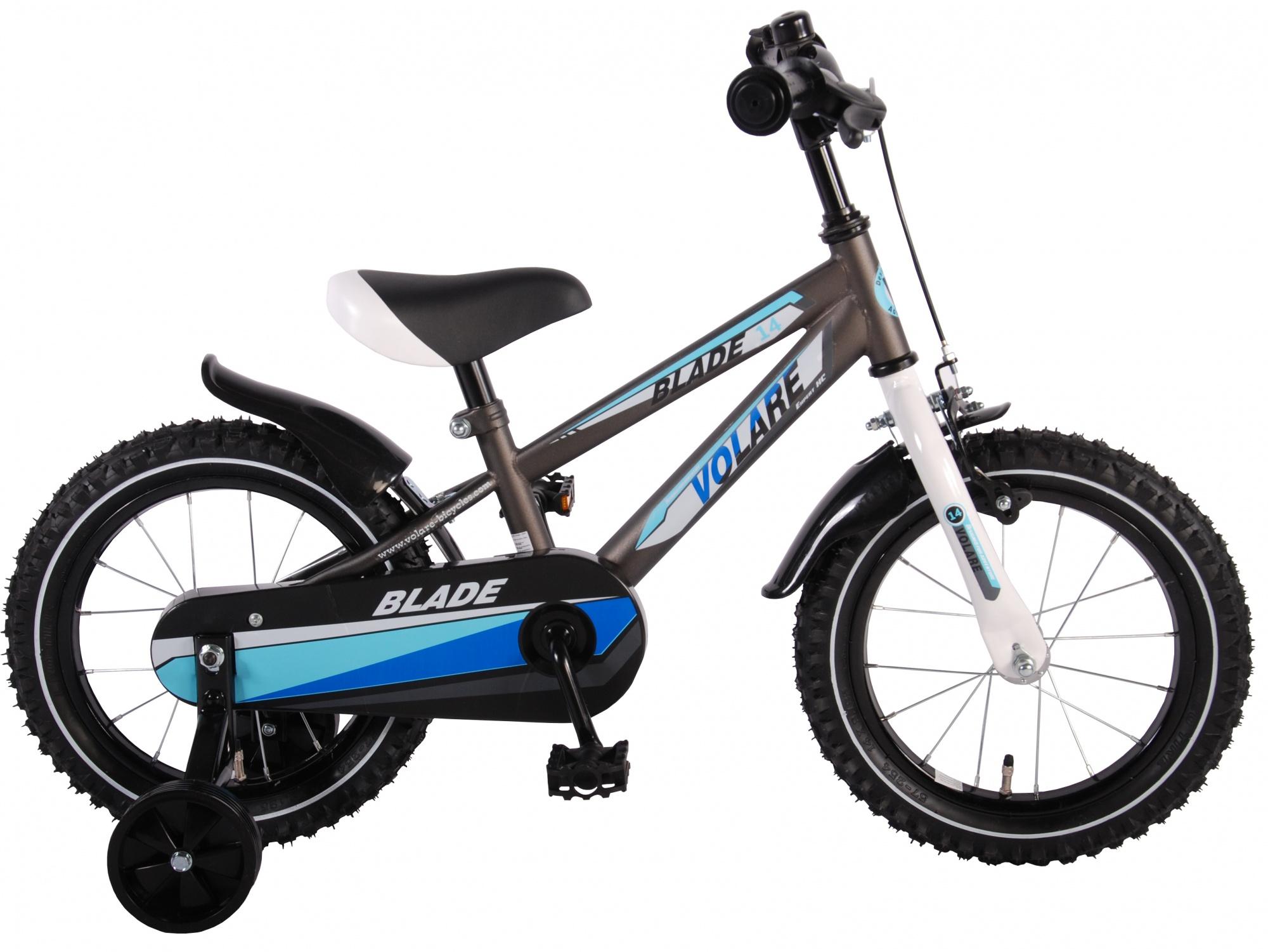 volare blade 14 zoll 23 5 cm jungen r cktrittbremse silber internet bikes. Black Bedroom Furniture Sets. Home Design Ideas