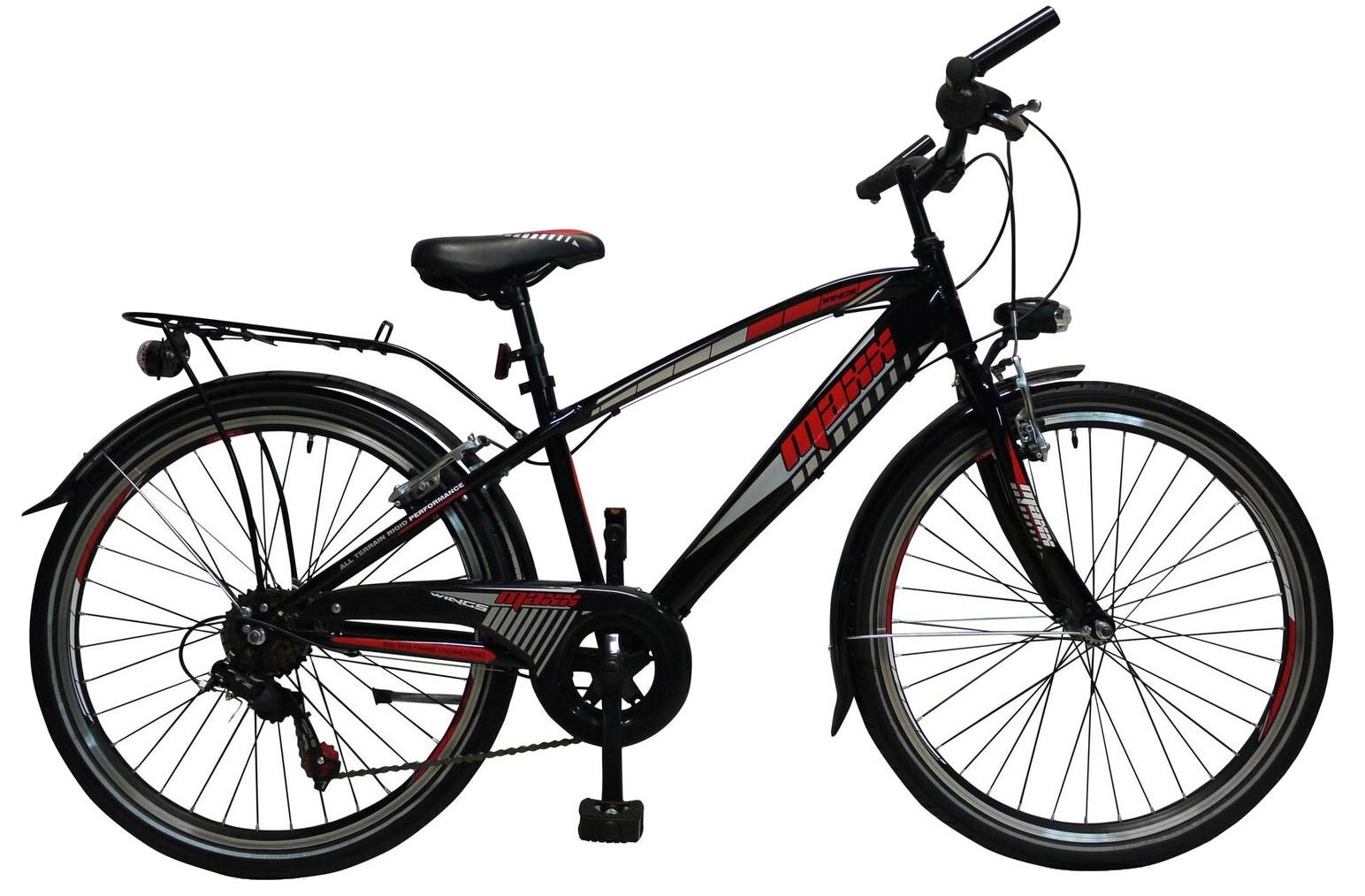 Wings Maxx 24 Inch Boys 6SP Rim Brakes Black - Internet-Bikes