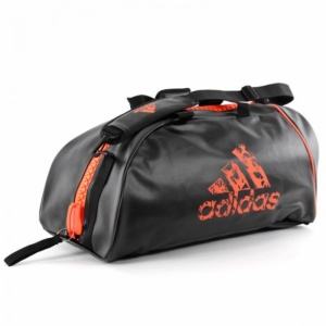 ac2c93db4ce4 adidas sports bag black   orange 59.5 liters