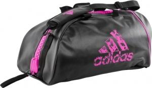 7b97a880460f adidas sports bag black   pink 65 liters