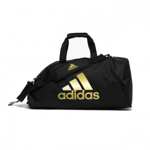 2bd6c78fd9 adidas training sports bag 2-in-1 black/gold 59 litres
