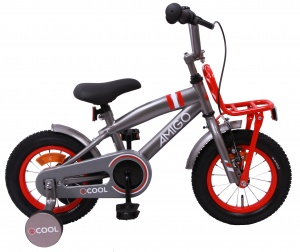 AMIGO 2Cool 12 Inch Boys Coaster Brake Grey