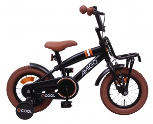 AMIGO 2Cool 12 Inch Boys Coaster Brake Matte black