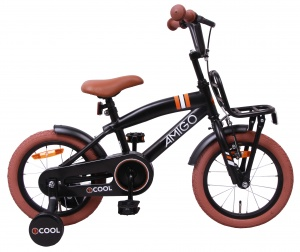 AMIGO 2Cool 14 Inch Boys Coaster Brake Matte black
