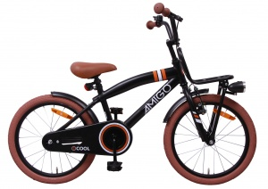 AMIGO 2Cool 18 Inch Boys Coaster Brake Matte black
