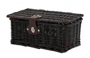 AMIGO bicycle basket willow front 6.5 litres dark brown